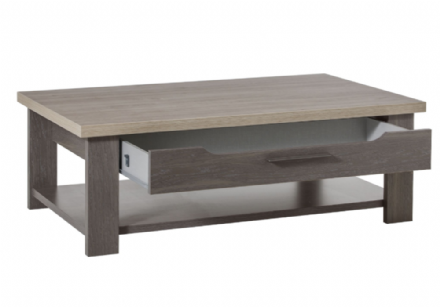 Grey Oak or White Ash Coffee Table with Storage